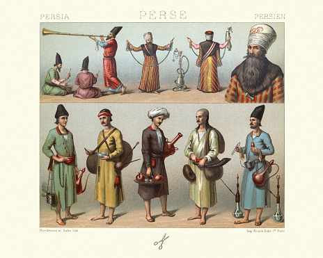Traditional costumes of Persia, Servants of the Shah