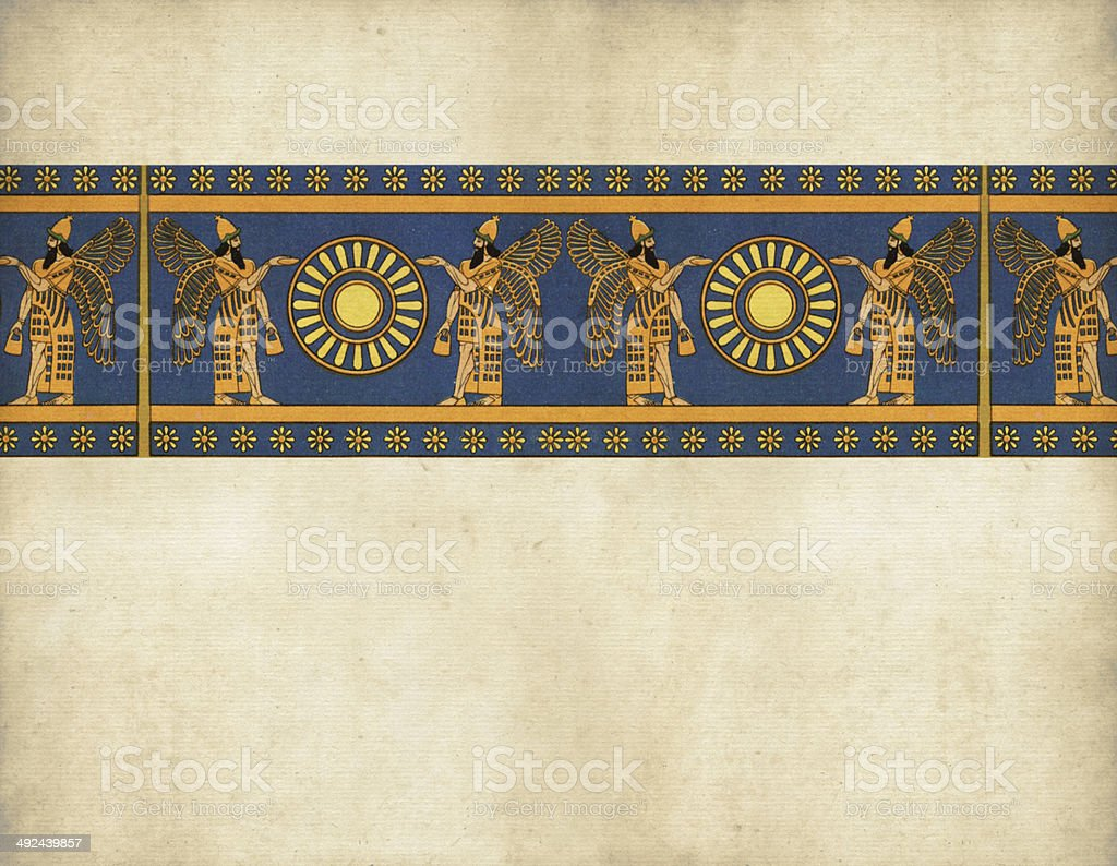 Traditional Egyptian Border royalty-free traditional egyptian border stock vector art & more images of backgrounds