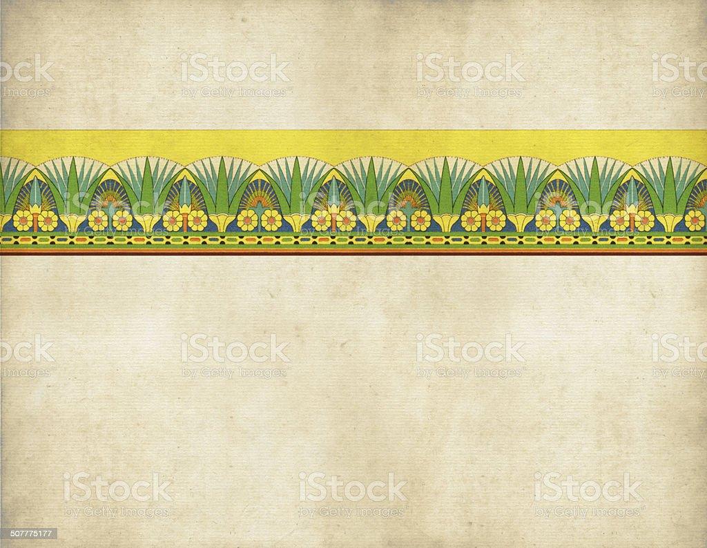 Traditional Egyptian Border vector art illustration