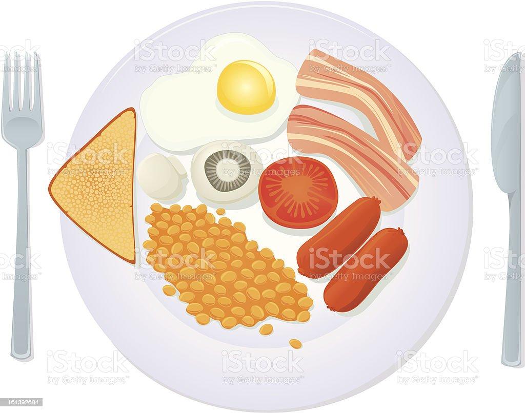 traditional english breakfast royalty-free stock vector art