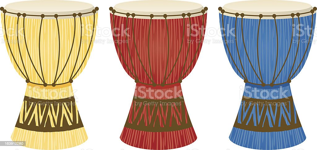 traditional ethnic native African tribal latin south american drums vector art illustration