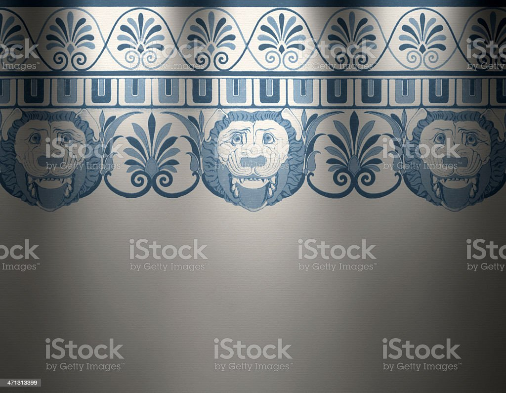 Traditional Greek Wallpaper vector art illustration
