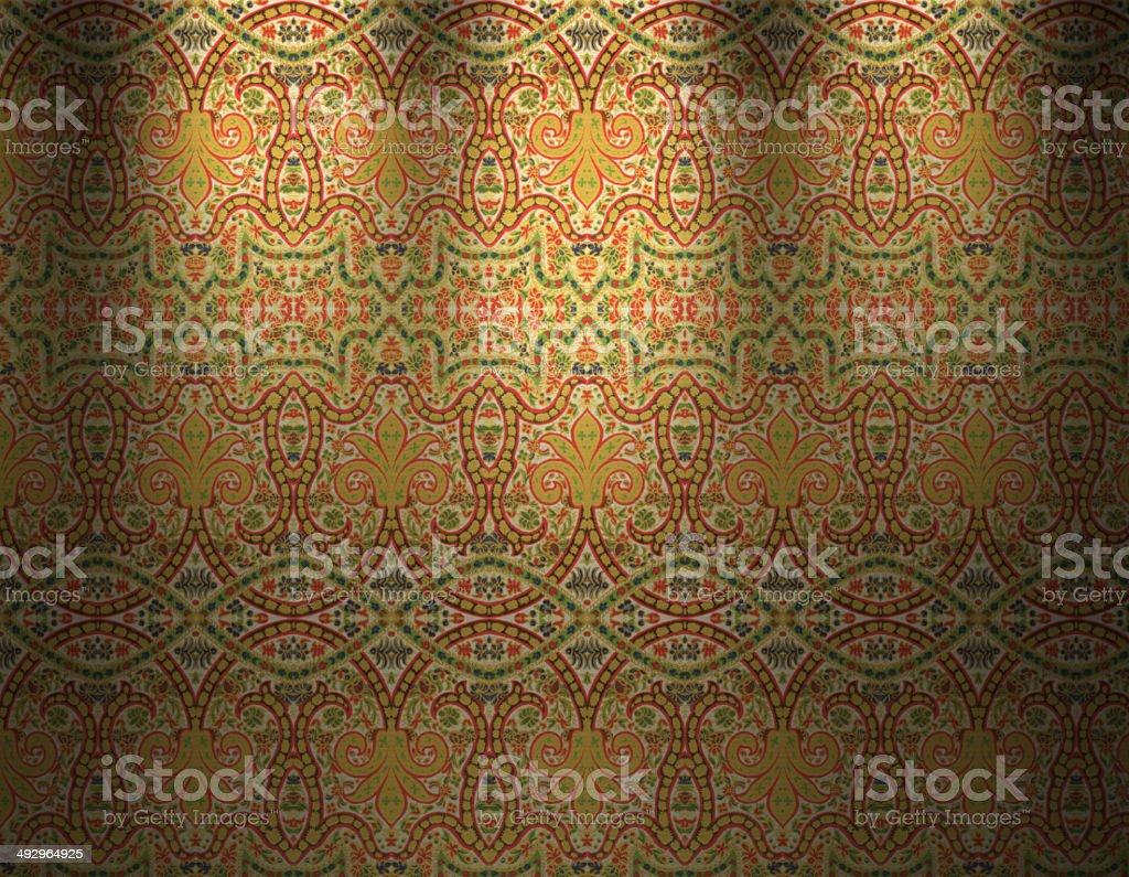 Traditional Indian Wallpaper vector art illustration