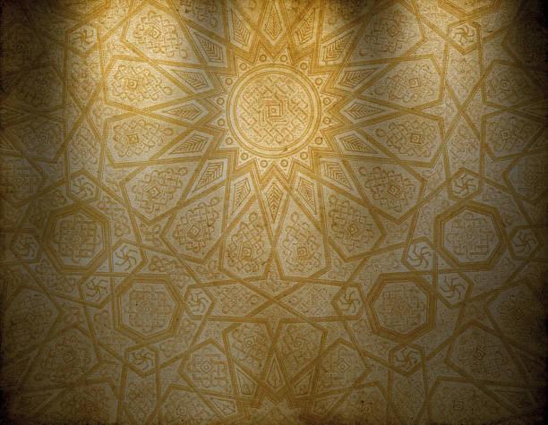 Traditional Oriental Wallpaper vector art illustration
