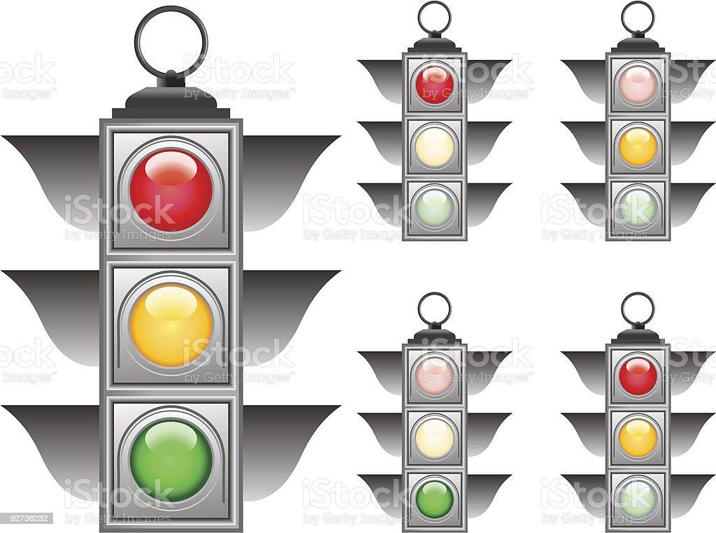 Ampel-set Lizenzfreies ampelset stock vektor art und mehr bilder von ampel