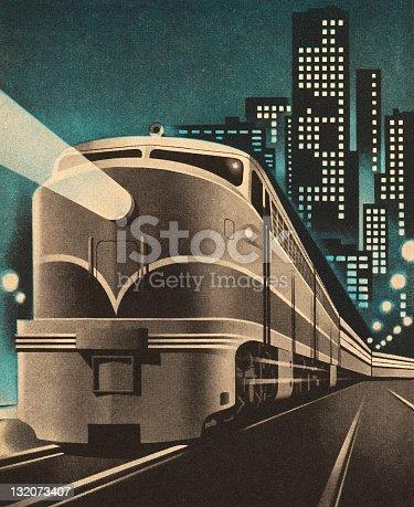 Train Leaving City