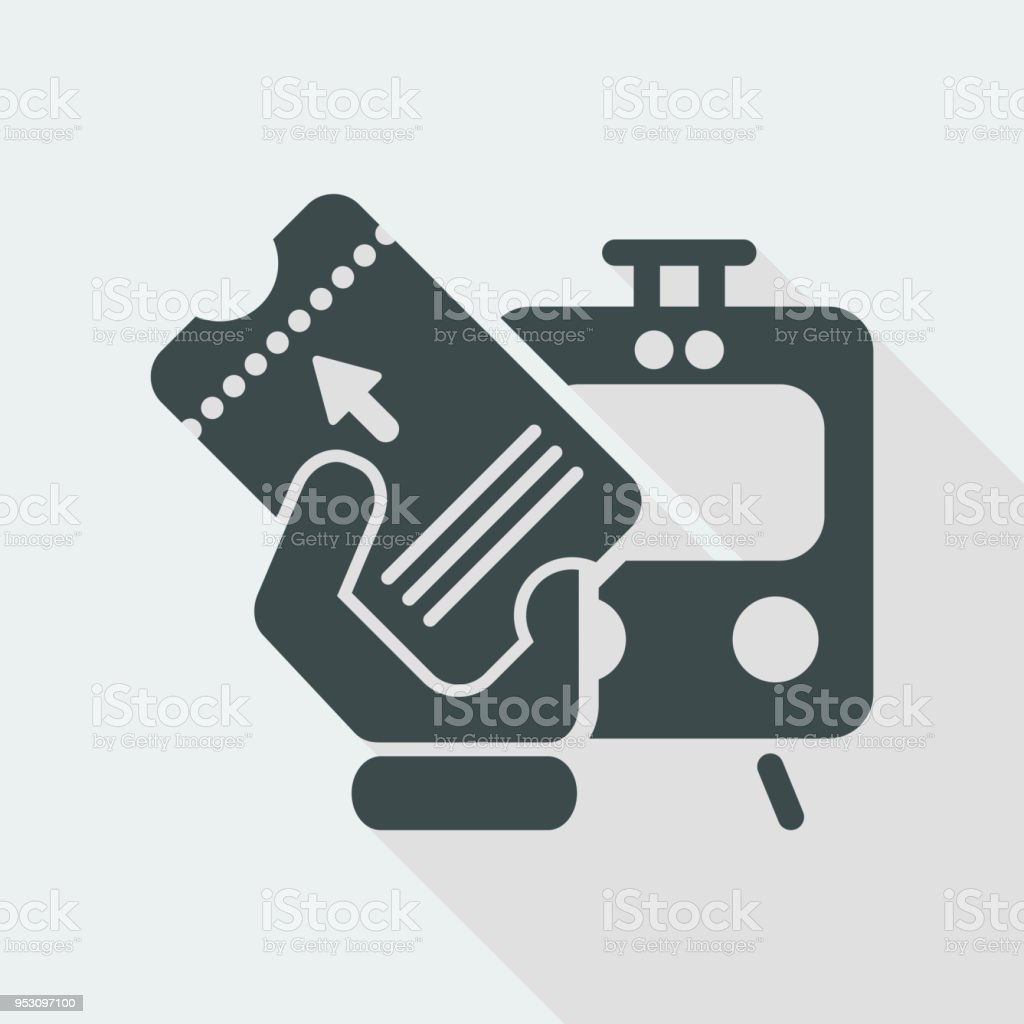 Train Ticket Stock Illustration - Download Image Now