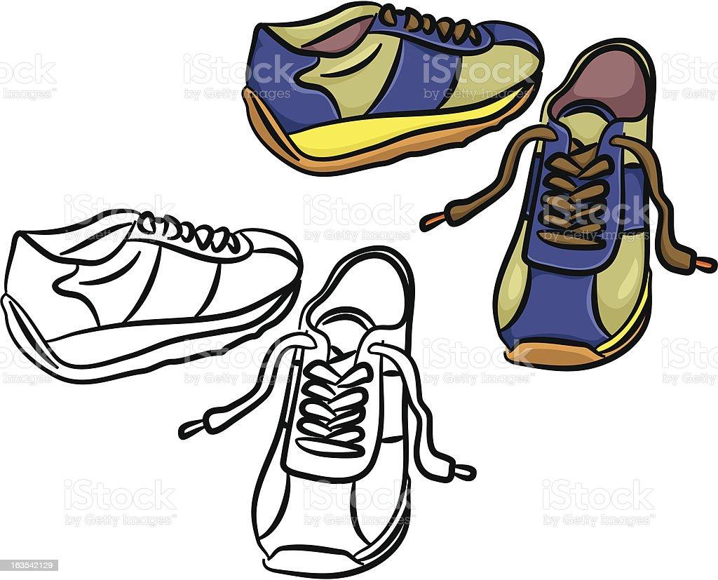 trainers vector art illustration
