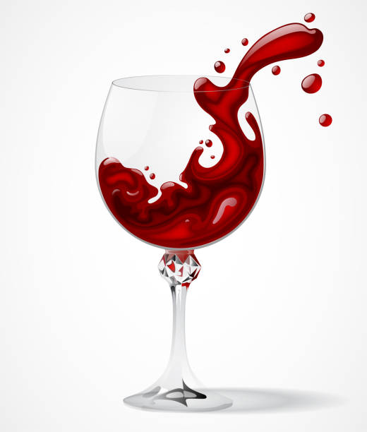 royalty free wine glass spilling clip art vector images