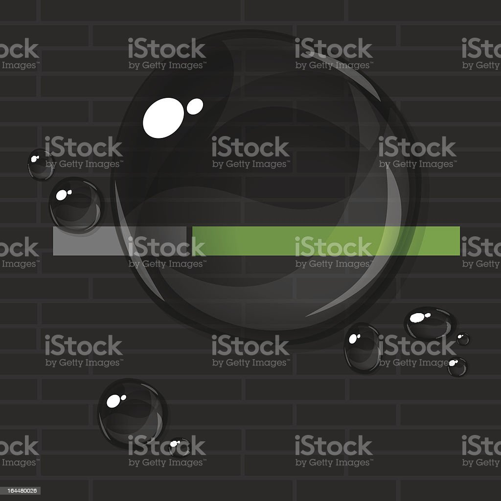 Transparent water bubbles royalty-free stock vector art