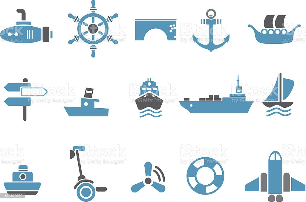 Transport Icon Set royalty-free transport icon set stock vector art & more images of anchor - vessel part