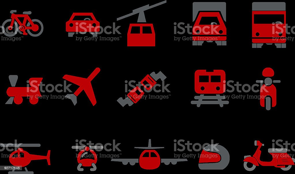 Transport Icon Set royalty-free transport icon set stock vector art & more images of airplane