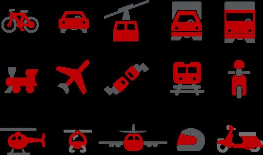 Transport Icon Set Stock Illustration - Download Image Now
