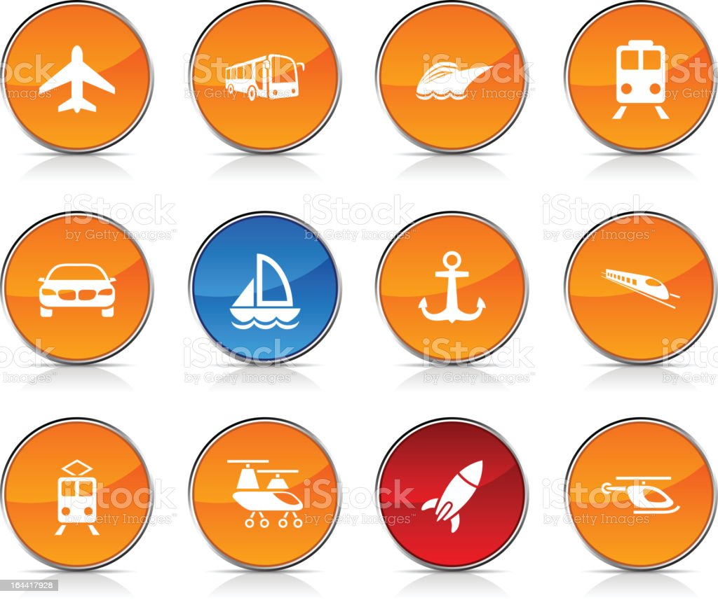 Transport  icons. royalty-free stock vector art