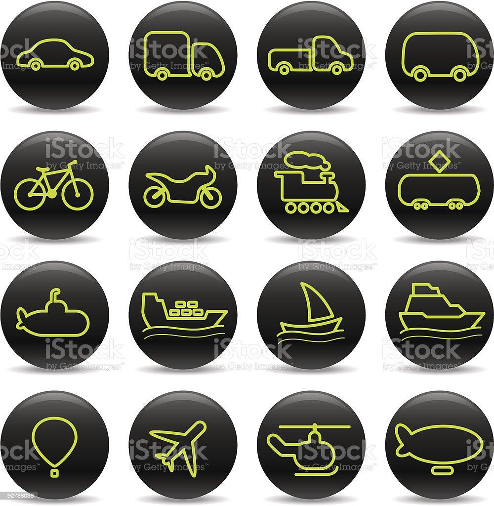 Transport-icons Lizenzfreies transporticons stock vektor art und mehr bilder von auto