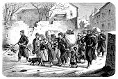 istock Transport of the inhabitants from Meudon to Versailles 1176941317