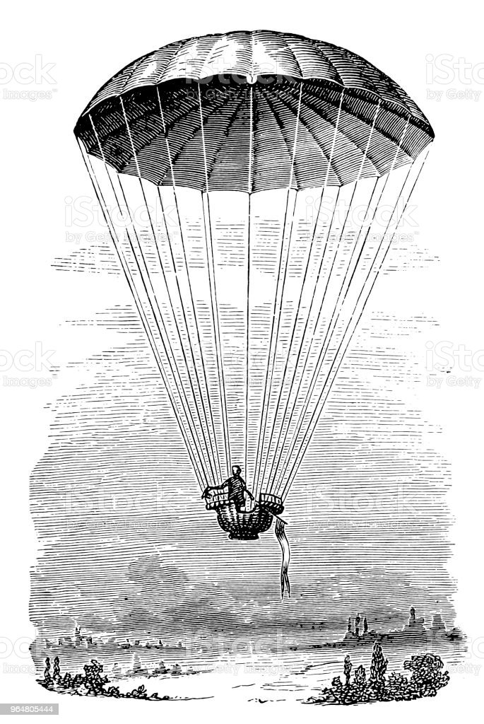 Transportation by Parachute royalty-free transportation by parachute stock illustration - download image now