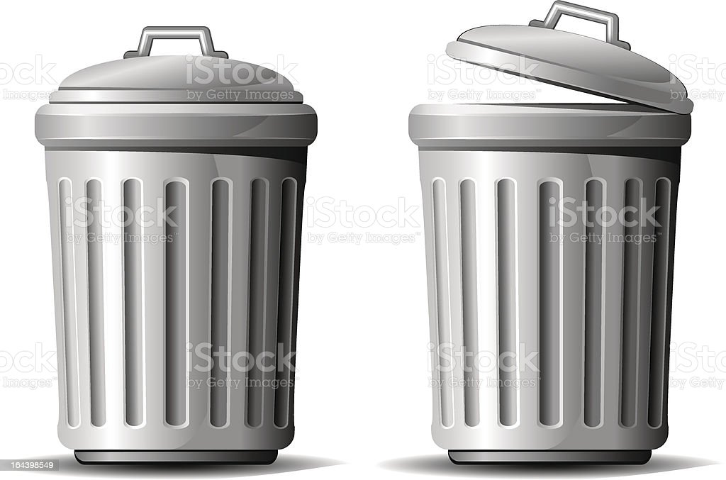 Trash can vector art illustration