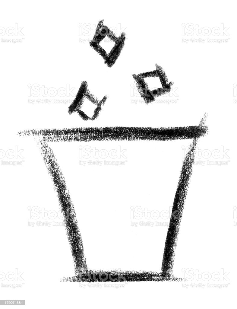 trash icon vector art illustration
