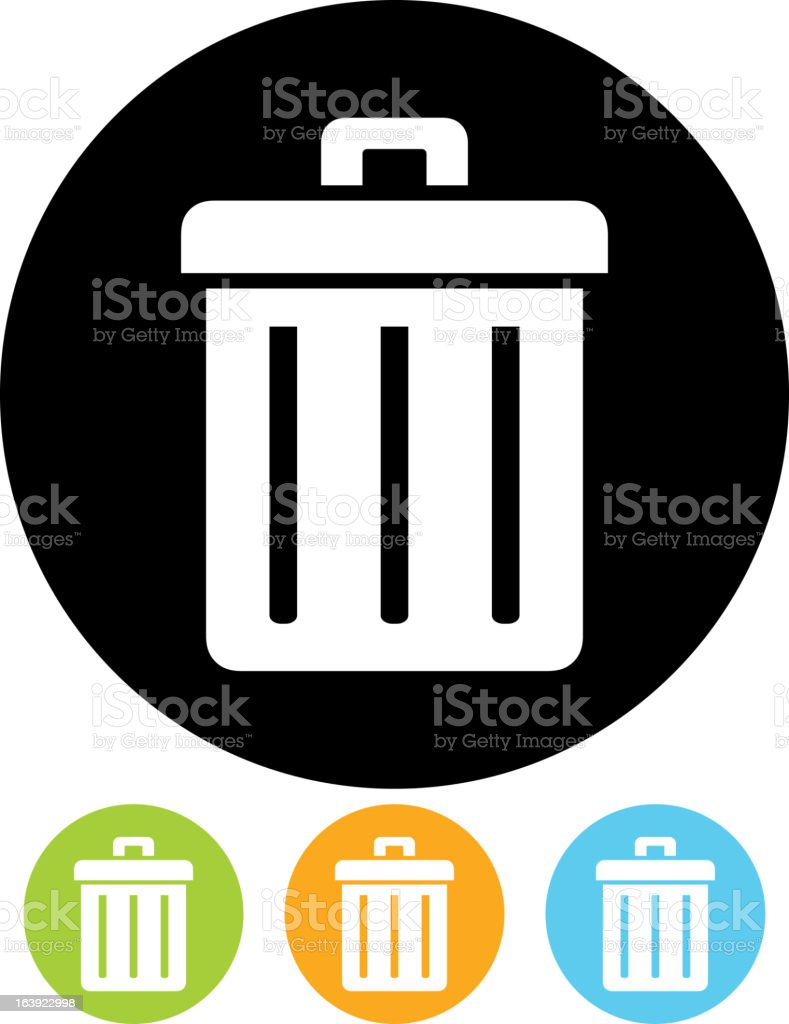 Trashcan icon isolated (Vector) vector art illustration