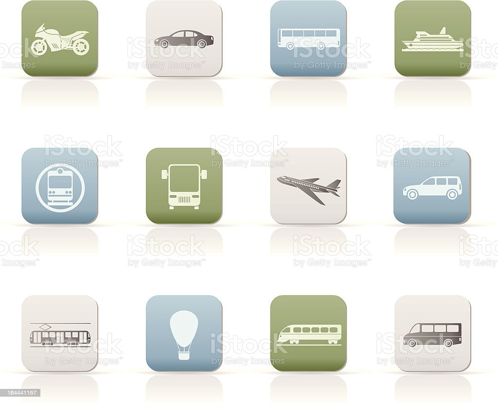 Travel and transportation of people icons royalty-free stock vector art