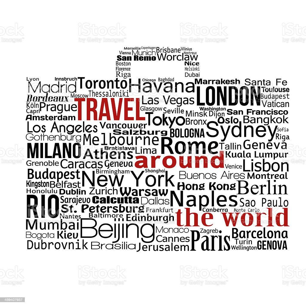Travel around the world concept vector art illustration