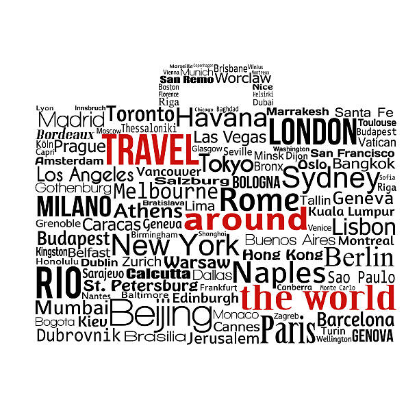 travel around the world concept - travel agent stock illustrations, clip art, cartoons, & icons