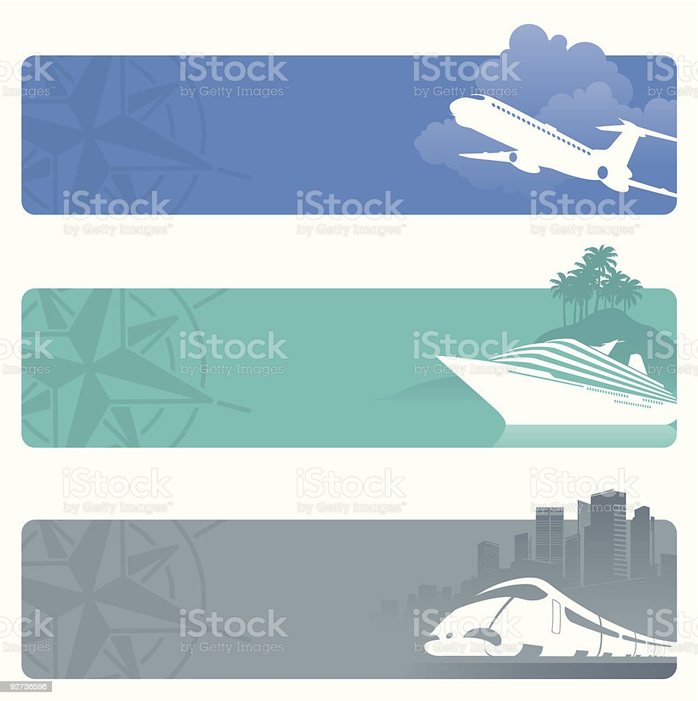 Travel banners - Royalty-free Adventure stock vector