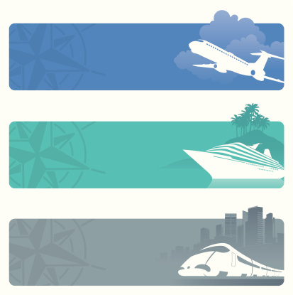 Travel Banners Stock Illustration - Download Image Now