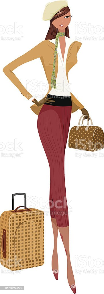 travel gal royalty-free travel gal stock vector art & more images of adult