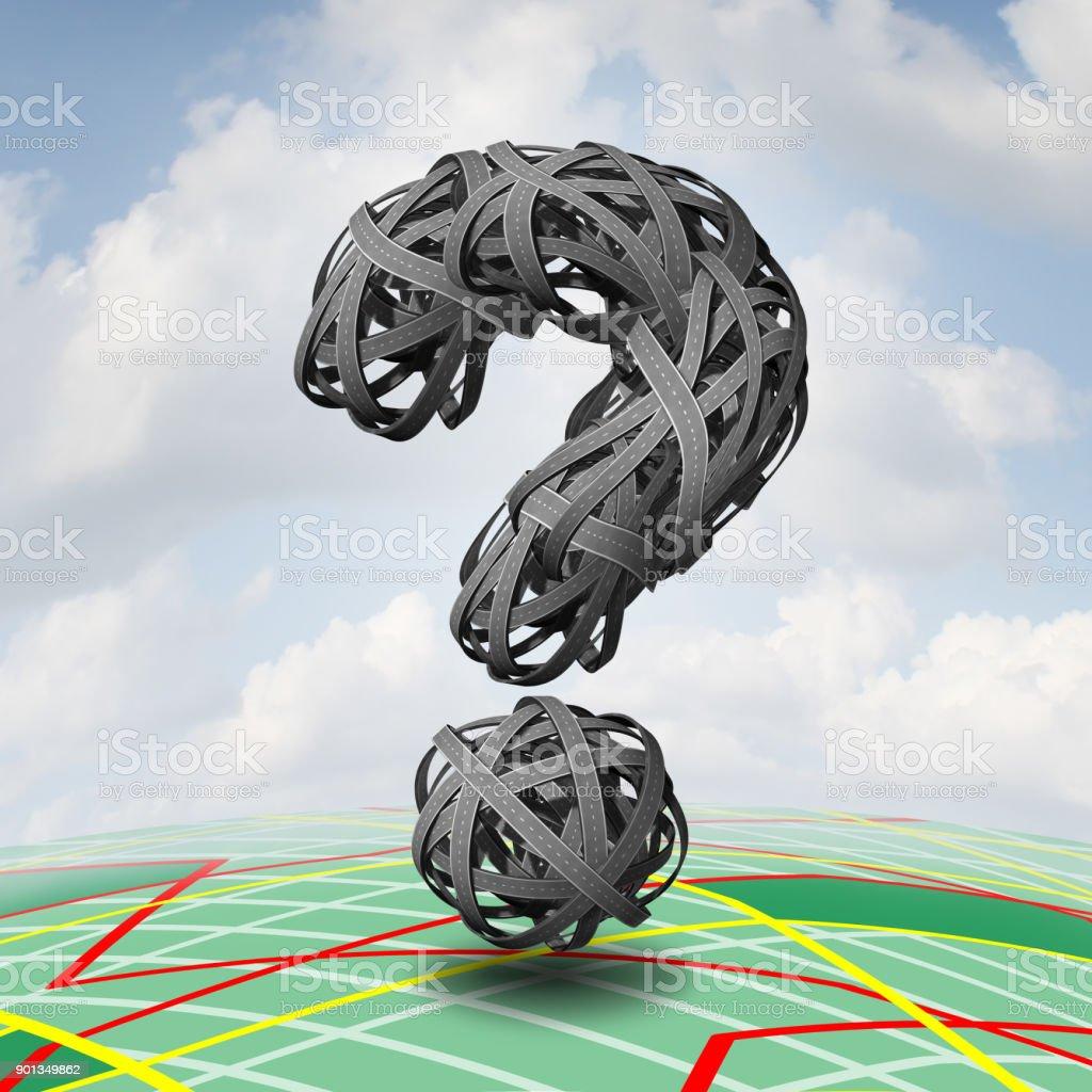Travel Question vector art illustration