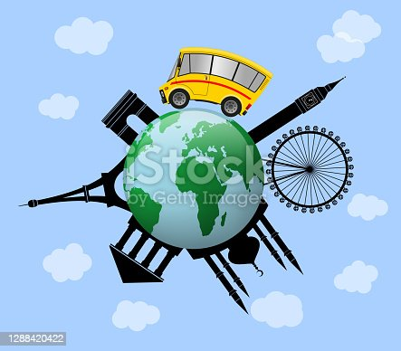 istock Travel to World, Global traveling concept 1288420422