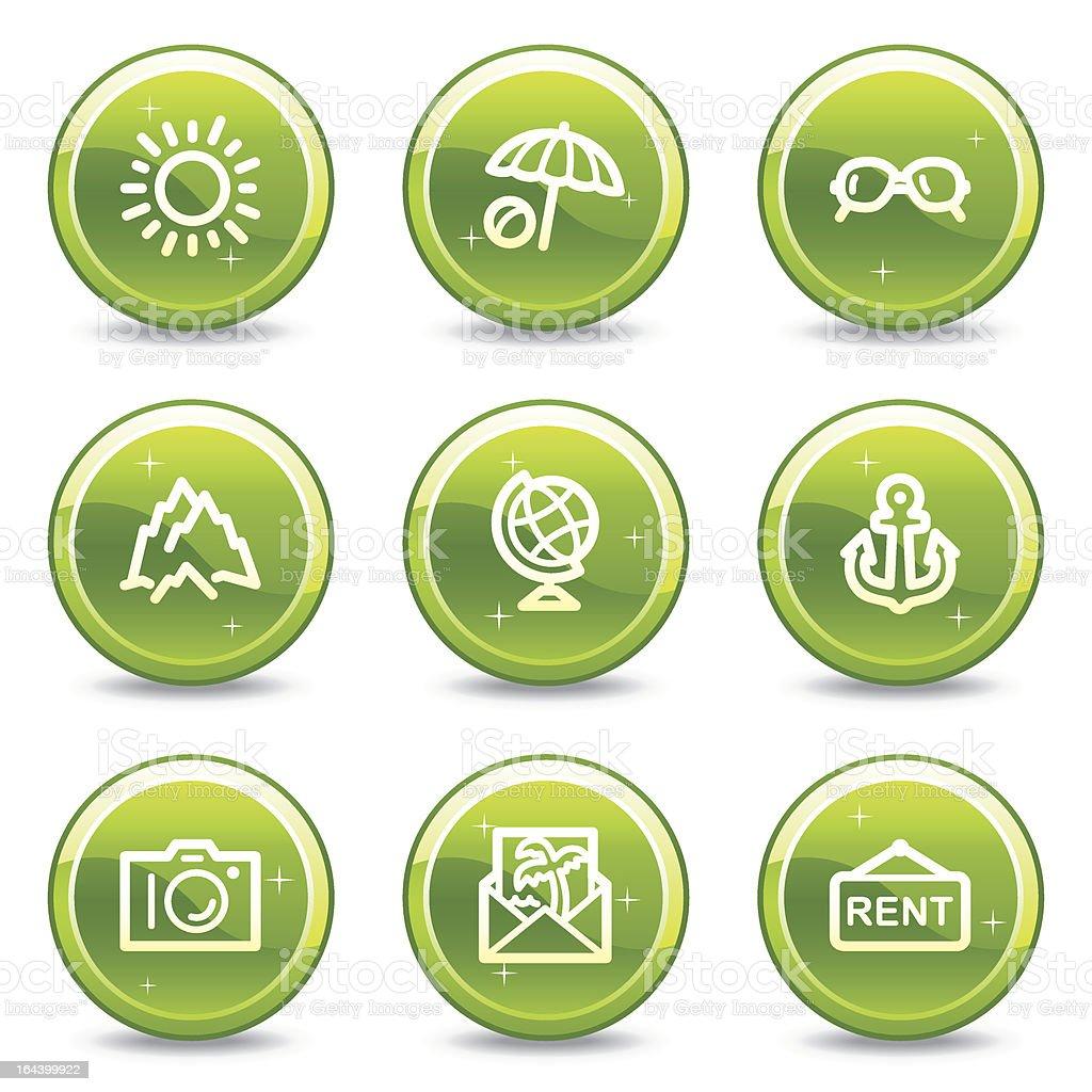Travel web icons set 5, green glossy circle buttons series royalty-free travel web icons set 5 green glossy circle buttons series stock vector art & more images of ball