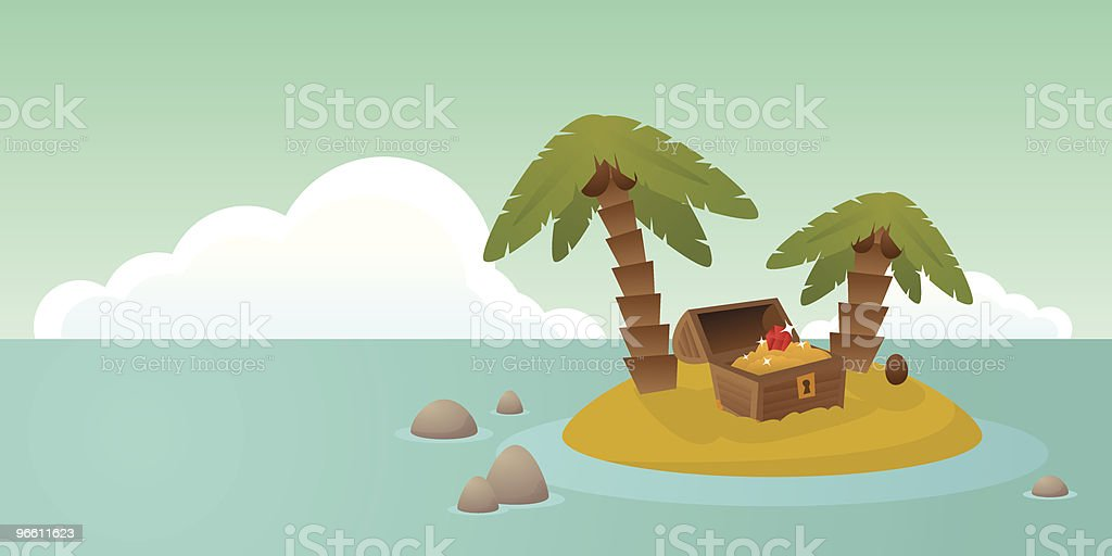 Treasure island - Royalty-free Antiquities stock vector