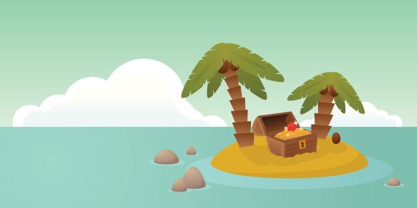 Treasure Island Stockvectorkunst en meer beelden van Afgelegen