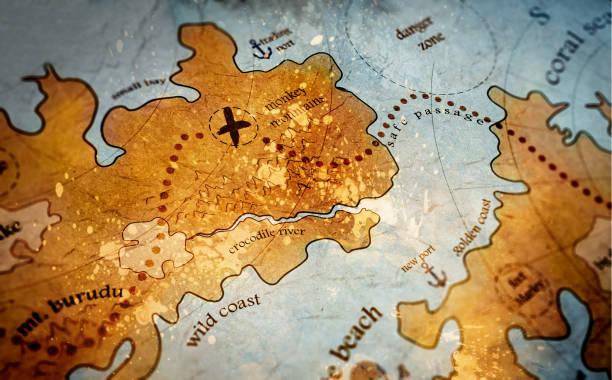 ilustrações, clipart, desenhos animados e ícones de mapa de ilha do tesouro - mapas de tesouro