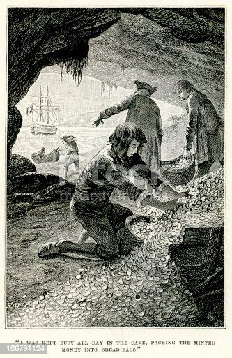 istock Treasure Island - Packing the minted money 186791124