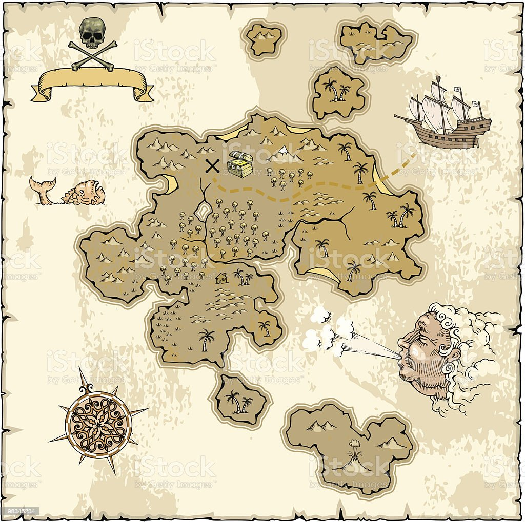 Treasure Map royalty-free treasure map stock vector art & more images of aerial view