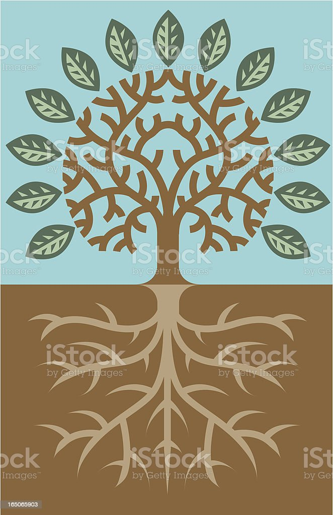 Tree and roots royalty-free stock vector art