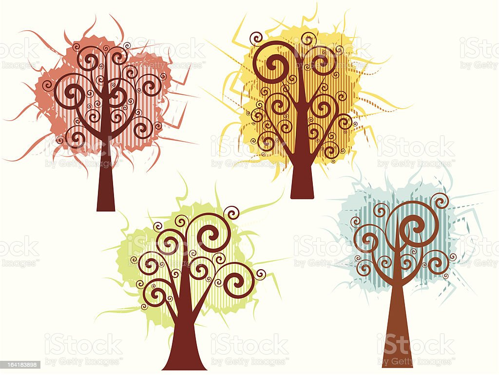 Tree Design Series royalty-free stock vector art