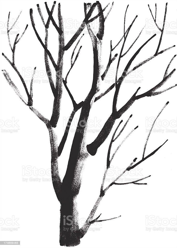 Tree in winter royalty-free stock vector art