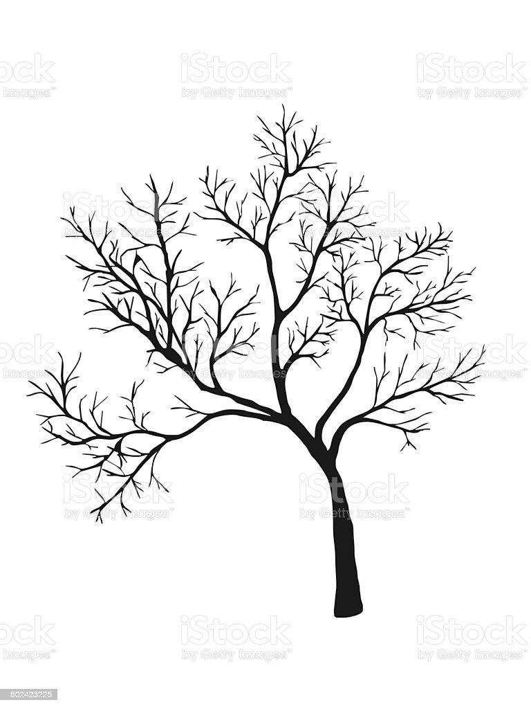 tree shiluette vector art illustration
