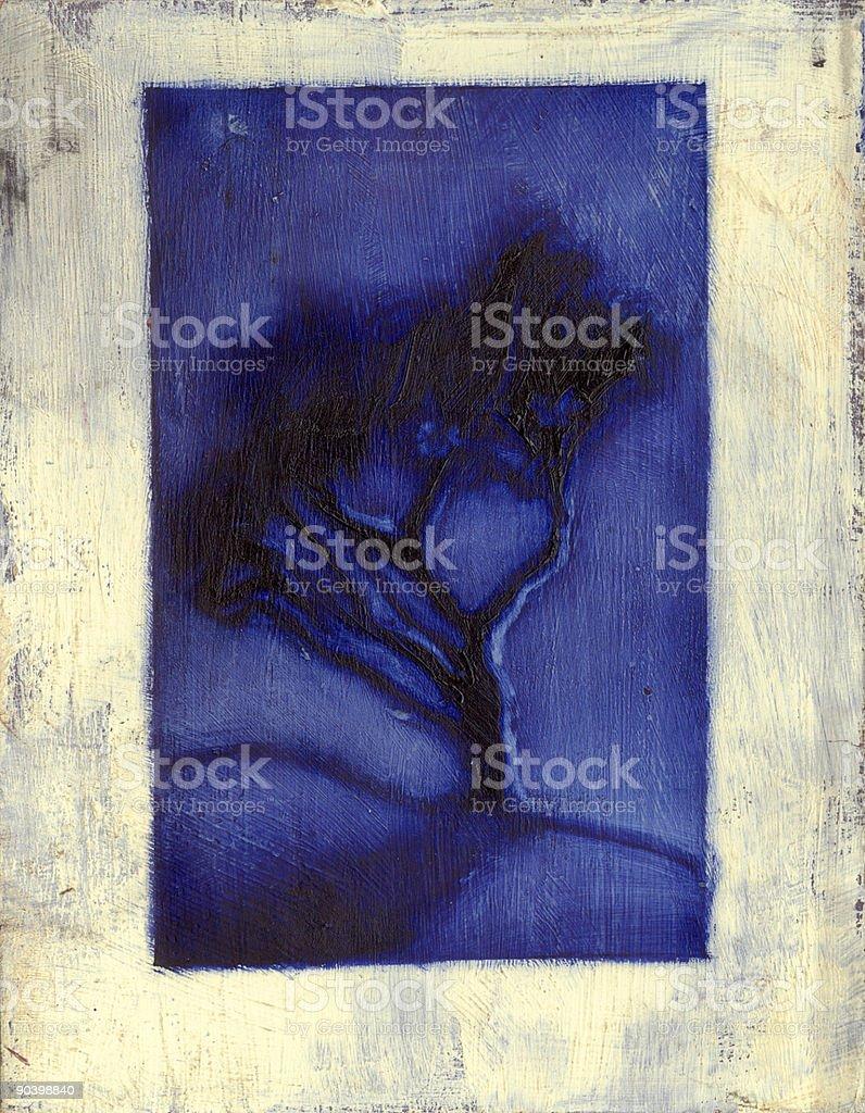 Tree's got the Blues royalty-free stock vector art