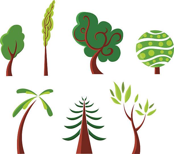 деревья, - four seasons stock illustrations
