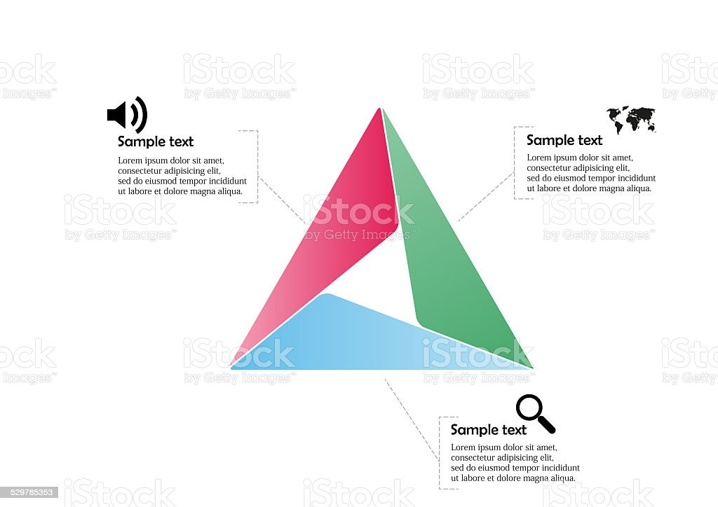 Triangle infographic vector art illustration