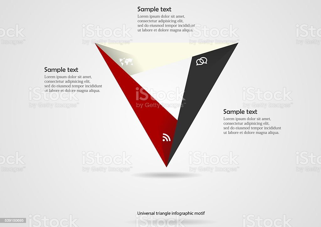 Triangle origami infographic vector art illustration