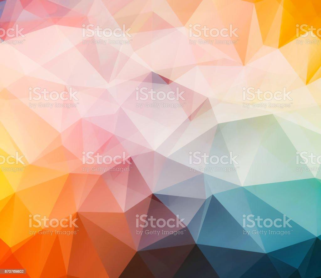 triangular abstract background vector art illustration