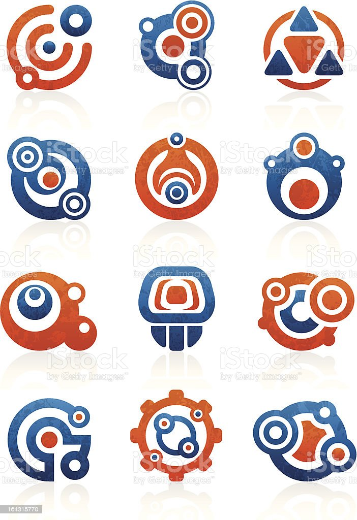 Tribal icons and symbols vector art illustration