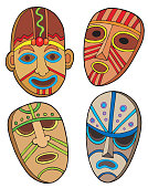 Tribal masks collection