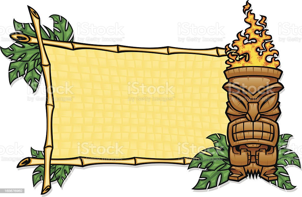 tribal tiki sign vector art illustration